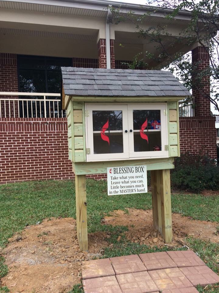 First United Methodist Church In Monticello Ark Now Has A Blessing Box