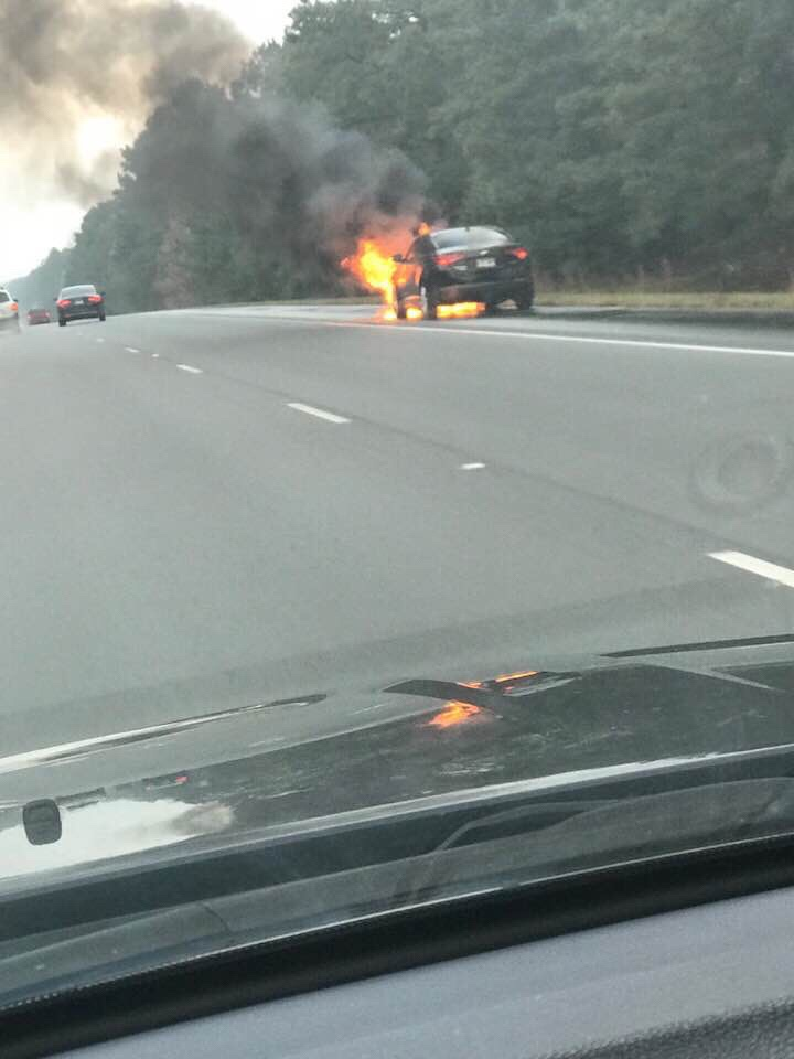 Redfield Ark FD Responds To Car Fire In Southbound Lane On I530