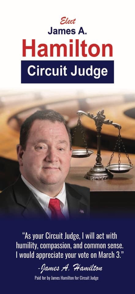 Elect James Hamilton For Circuit Judge